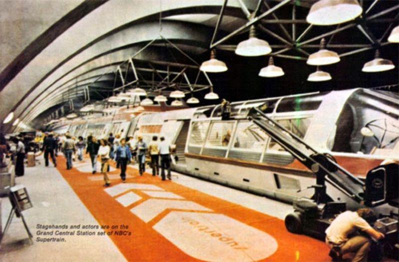 """Ядерный сверхскоростной пассажирский экспресс 'Supertrain"""" 1970-х годов"""