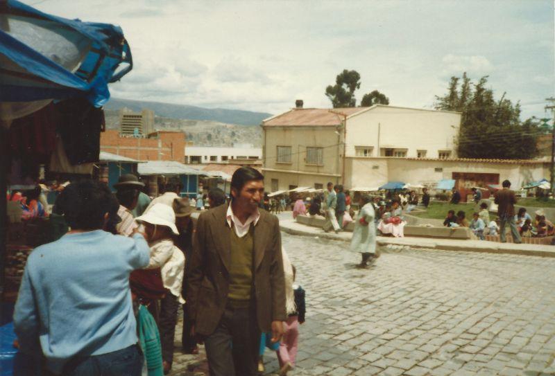 Ла-Пас в начале 1980-х через объектив британского путешественника