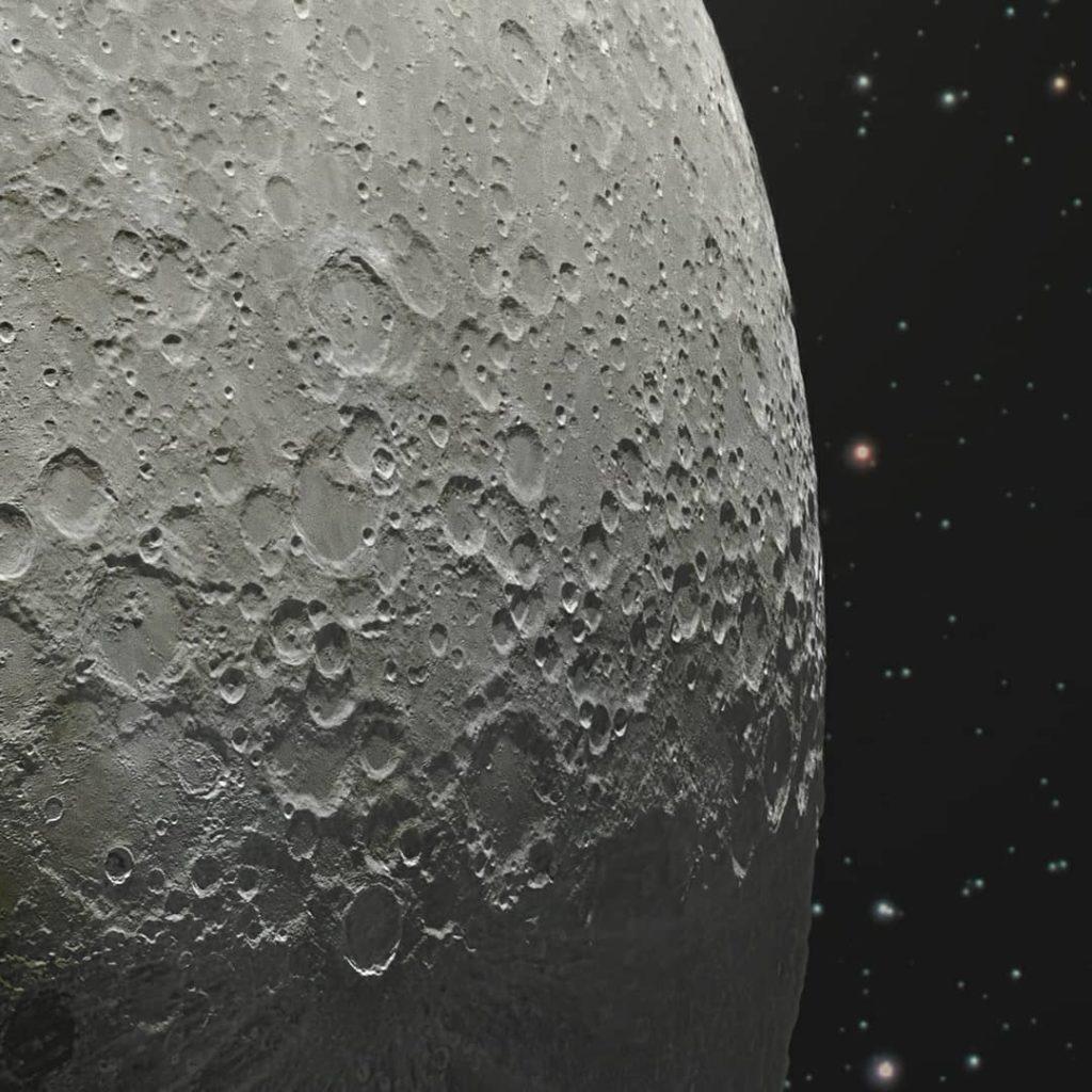 Изображение Луны составленное из 100 000 отдельных фотографий