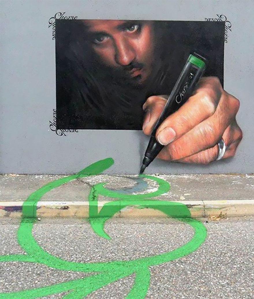 Уличный художник создает потрясающий 3D-Арт