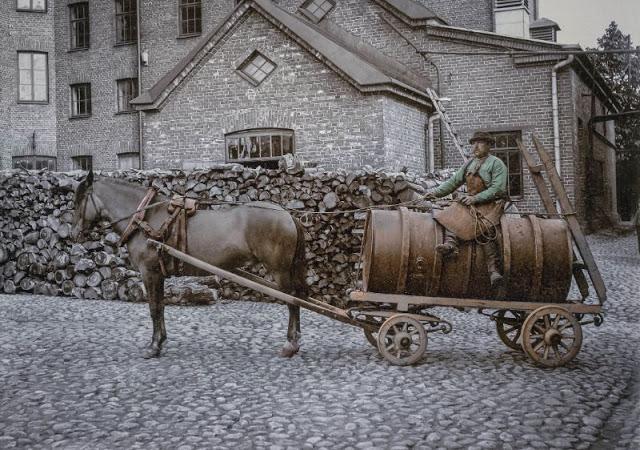 Повседневная жизнь Хельсинки в начале 20-го века через удивительные цветные фотографии